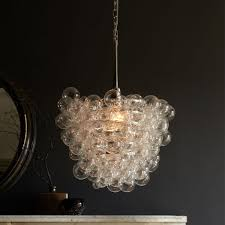 Glass Droplet Ceiling Light by Droplet Glass Chandelier West Elm Au