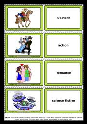 films movies esl printable flashcards and game cards