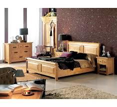 chambre en chene massif lit adulte
