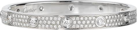 cartier love bracelet with diamonds images Crn6033602 love bracelet diamond paved white gold diamonds png