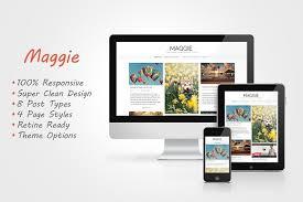 maggie responsive blog theme blog templates free wordpress