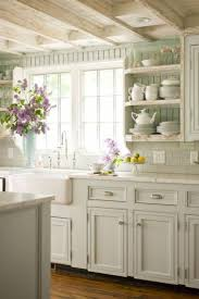white kitchen cabinets with wood beams 15 cottage country kitchen decor ideas