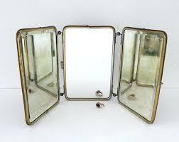 tri fold bathroom mirror trifold bathroom mirrors art fold mirror vanity wood back 3 by tri