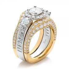 wedding ring set for estate two tone wedding and engagement ring set 100619