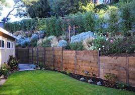 Rustic Fence Retaining Wall Cagwin  Dorward Novato CA - Retaining wall designs ideas