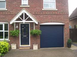 industrial front door garage doors modern industrial building with big blue garage