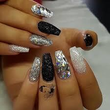 best 25 glitter nails ideas on pinterest acrylic nails glitter