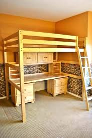 Log Bunk Bed Plans Log Loft Bed With Desk Tandemdesigns Co