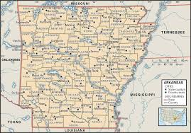 Paper Towns On Maps State And County Maps Of Arkansas