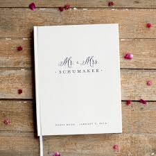 monogrammed wedding guest book mr and mrs wedding guest book wedding guestbook custom monogram