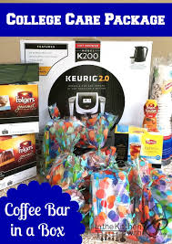 College Care Package In The Kitchen With Kp Creative College Care Package Coffee Bar In