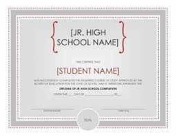 diploma certificate template word jr high diploma
