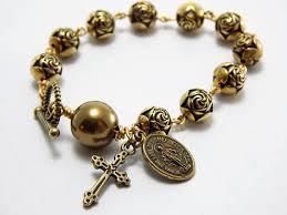 catholic bracelet rosary bracelet catholic jewelry miraculous medal bracelet