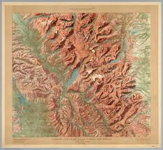 Us Relief Map Six Amazing Hand Drawn National Park Relief Maps From 1914
