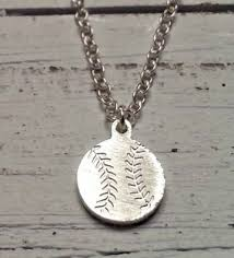 girl necklace chains images Baseball jewelry for women girls png