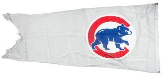 Chicago Cubs Flags Lot Detail 2015 Chicago Cubs U201cwalking Bear U201d White Flag Flown On