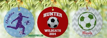 Soccer Ornaments To Personalize Personalized Christmas Ornaments For All Sports Chalktalksports Blog