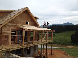 hill roof framing custom timber log homes