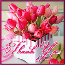 pink tulip thank you card free for everyone ecards greeting