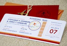 boarding pass wedding invitations modern boarding pass wedding invitation costa rica