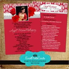 wedding invitations red and silver silver quinceanera invitations with back printing