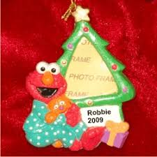 personalized elmo frame ornament