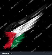 Stock Feather Flags Royalty Free The Palestine Flag On Abstract Wing U2026 139309730 Stock