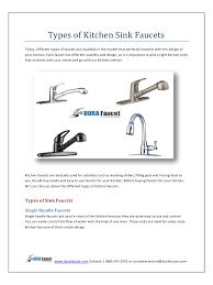 Used Kitchen Faucets by Types Of Faucets Kitchen Rigoro Us