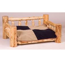 fireside lodge traditional cedar log dog bed with standard