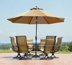 Round Patio Furniture Set by Patio Patio Furniture Sets With Umbrella Dark Brown Round Modern