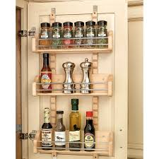 Kitchen Cabinet Door Spice Rack Kitchen Rev Shelf Wood In Cabinet Wall Spice Rack Organizer