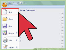 How Do I Find Resume Templates On Microsoft Word 2007 How To Create A Newsletter With Ms Word 2007 12 Steps
