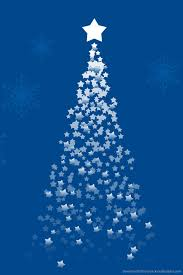 download ascending star forming a christmas tree on a blue