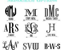 monogram decals monogram sticker etsy