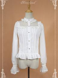 blouse ruffles collar sleeves blouse with ruffles blouse