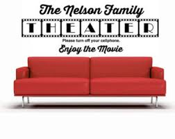 Home Theatre Wall Decor Theater Wall Decal Etsy