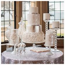 wedding cake table cake couture silver ruffle wedding cake table cake couture