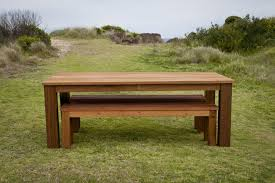 Wooden Tables And Benches Home Design Charming Outdoor Table With Benches Incredible