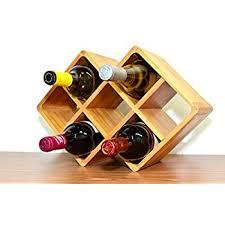 amazon com superiore livello firenze 8 bottle bamboo countertop