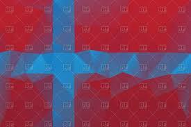 Norweigan Flag Norwegian Flag Polygonal Style Royalty Free Vector Clip Art