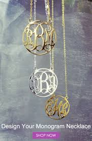 3 initial monogram necklace sterling silver 17 best monogram necklace images on monogram necklace