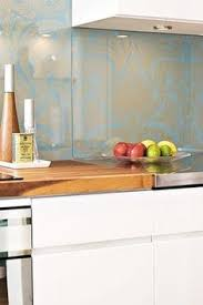 Glass Over Wallpaper Backsplash Kitchen Things Pinterest - Wallpaper backsplash