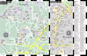 Orange Lake Resort Orlando Map by Streetwise Orlando Map Laminated City Center Street Map Of