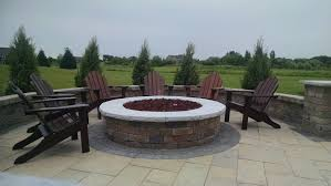 Gas Fire Pit Ring by Rockwood Custom Gas Fire Pit Ring With Silver Creek Caps 2015