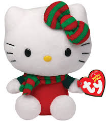 amazon com ty beanie babies hello kitty red christmas