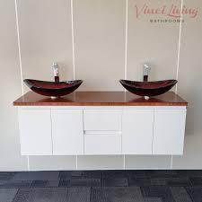 Bamboo Vanity Nova 1500mm Wall Hung Bathroom Vanity Unit Coffee Bamboo Top Oval