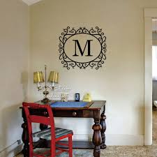 popular acrylic letters custom wall buy cheap acrylic letters custom name wall sticker initial letter name wall decal floral frame name family name stickers cut