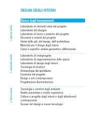 corso di laurea in design degli interni