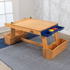 Kidkraft Outdoor Picnic Table by Art Table With Drying Rack U0026 Storage