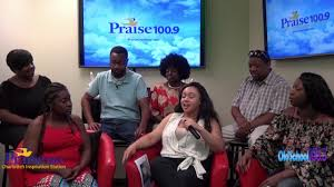 the cast of tell heaven i u0027m coming stops by the praise 100 9